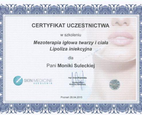 mezoterapia igłowa twarzy i ciała lipoliza iniekcyjna Bydgoszcz Salon Kosmetyczny Monika Sulecka Calm Kosmetyka