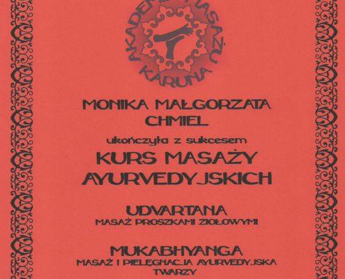 masaż ajurvedyjski Bydgoszcz Salon Kosmetyczny Monika Sulecka Calm Kosmetyka