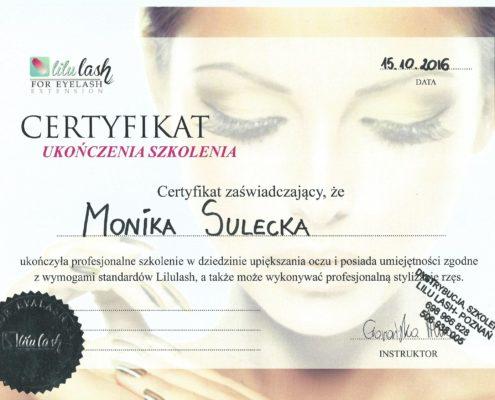 stylizacja rzęs Bydgoszcz Salon Kosmetyczny Monika Sulecka Calm Kosmetyka
