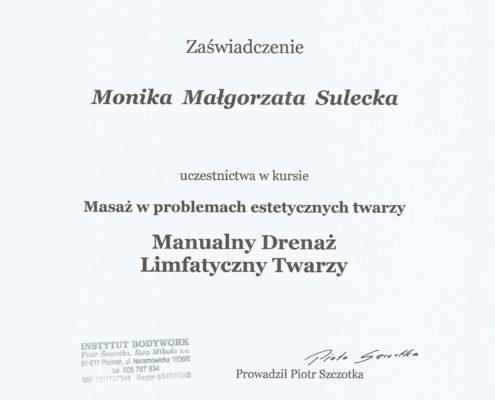 manualny drenaż limfatyczny twarzy Bydgoszcz Salon Kosmetyczny Monika Sulecka Calm Kosmetyka