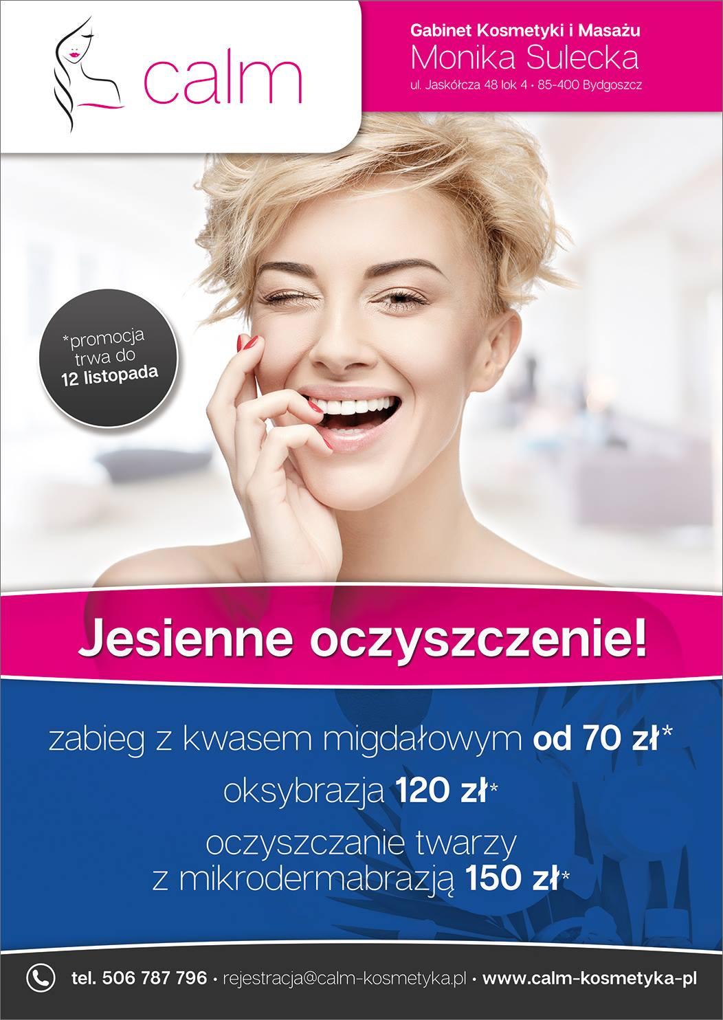 gabinet kosmetyki imasażu Bydgoszcz salon kosmetyczny oksybrazja zabieg zkwasem migdałowym oczyszczanie twarzy mikrodermabrazja