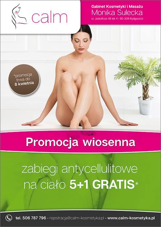 Zabiegi antycellulitowe na ciało gabinet kosmetyki i masaży salon kosmetyczny bydgoszcz Monika Sulecka
